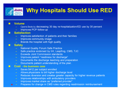 Slide 48. Why Hospitals Should Use RED