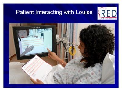 Slide 56. Patient Interacting with Louise
