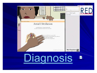Slide 67. An image of the Louise Diagnosis screen