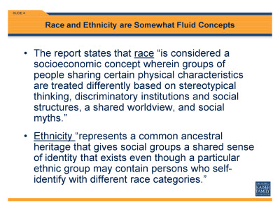 Slide 4. Race and Ethnicity are Somewhat Fluid Concepts