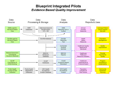 Slide 10. Blueprint Integrated Pilots: Evidence Based Quality Improvement