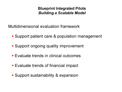 Slide 12. Blueprint Integrated Pilots: Building a Scalable Model