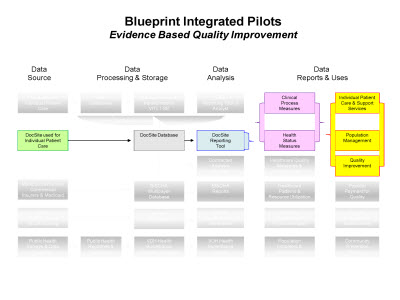 Slide 5. Blueprint Integrated Pilots: Evidence Based Quality Improvement