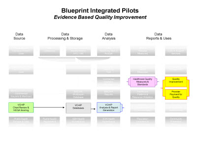 Slide 6. Blueprint Integrated Pilots: Evidence Based Quality Improvement