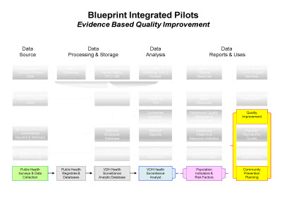 Slide 9. Blueprint Integrated Pilots: Evidence Based Quality Improvement
