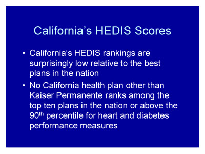 Slide 28. California's HEDIS Scores