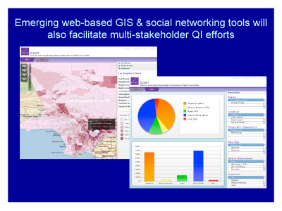 Slide 31. Emerging web-based GIS and social networking tools will also facilitate multi-stakeholder QI efforts