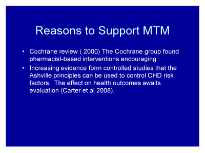 Slide 32. Reasons to Support MTM