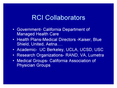 Slide 38. RCI Collaborators