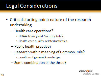 Slide 16. Legal Considerations