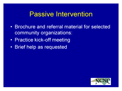 Slide 11. Passive Intervention