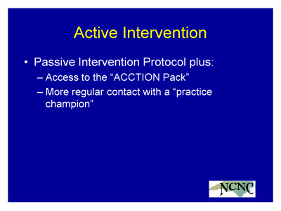 Slide 14. Active Intervention
