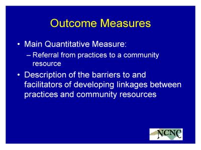 Slide 17. Outcome Measures