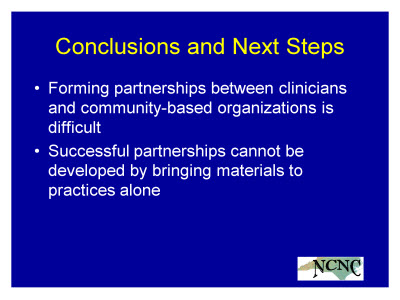 Slide 29. Conclusions and Next Steps