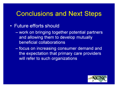 Slide 30. Conclusions and Next Steps