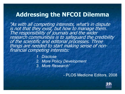 Slide 11. Addressing the NFCOI Dilemma