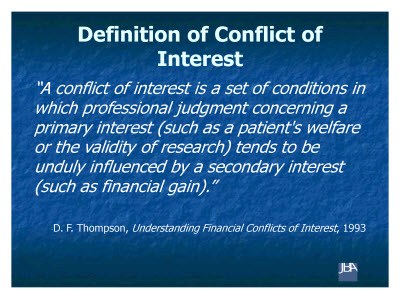 Slide 3. Definition of Conflict of Interest