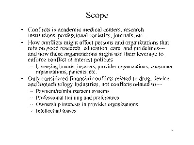 Slide 3. Scope