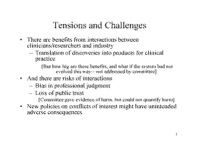 Slide 5. Tensions and Challenges