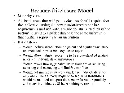 Slide 9. Broader-Disclosure Model