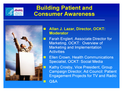 Slide 2. Building Patient and Consumer Awareness