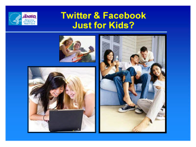 Slide 31. Twitter and Facebook Just for Kids?