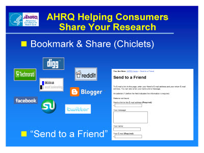 Slide 38. AHRQ Helping Consumers Share Your Research