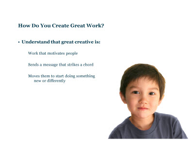 Slide 61. How Do You Create Great Work?