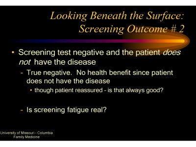 Slide 18. Looking Beneath the Surface: Screening Outcome #2