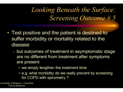 Slide 21. Looking Beneath the Surface: Screening Outcome #5