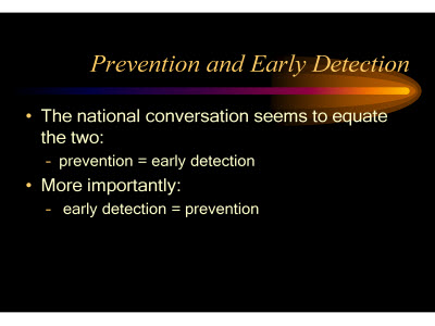 Slide 8. Prevention and Early Detection