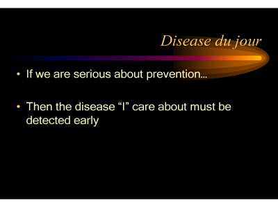 Slide 9. Disease du jour