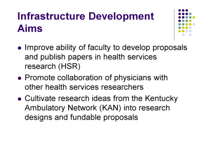 Slide 2. Infrastructure Development Aims