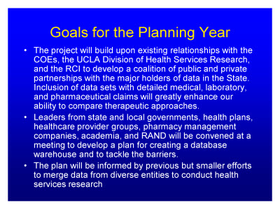 Slide 22. Goals for the Planning Year