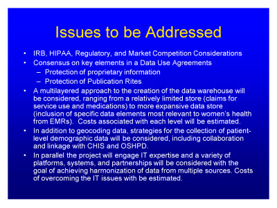 Slide 23. Issues to be Addressed