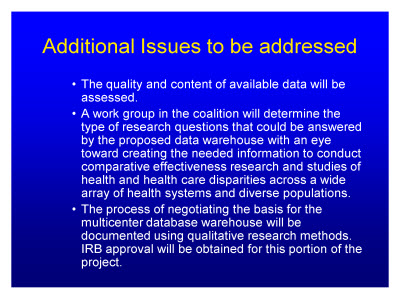 Slide 24. Additional Issues to be addressed