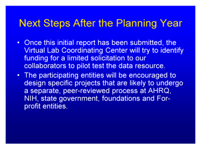 Slide 25. Next Steps After the Planning Year