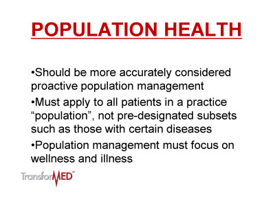 Slide 3. Population Health