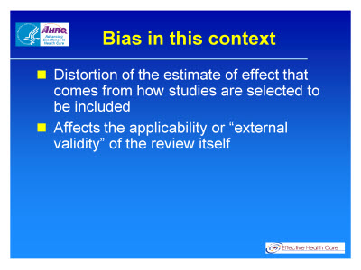 Slide 10. Bias in this context