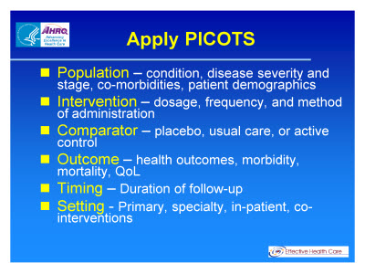 Slide 15. Apply PICOTS