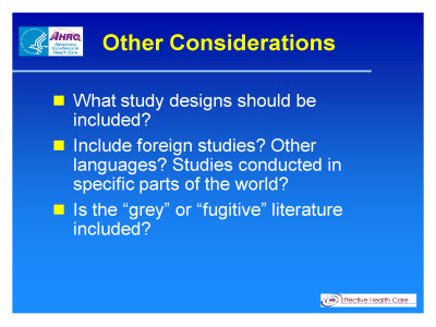 Slide 24. Other Considerations