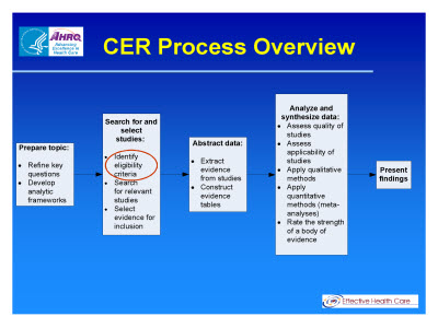 Slide 3. CER Process Overview