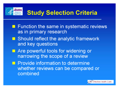 Slide 4. Study Selection Criteria