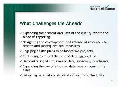 Slide 14. What Challenges Lie Ahead?
