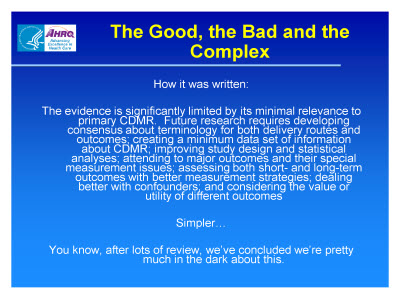 Slide 13. The Good, the Bad and the Complex