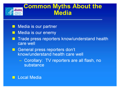 Slide 18. Common Myths About the Media