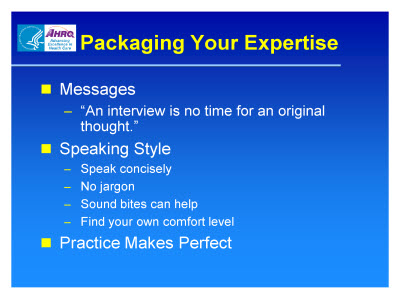 Slide 22. Packaging Your Expertise