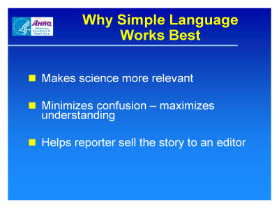 Slide 4. Why Simple Language Works Best
