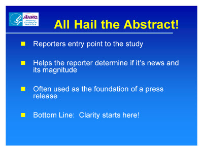 Slide 6. All Hail the Abstract!