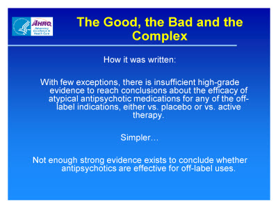 Slide 9. The Good, the Bad and the Complex